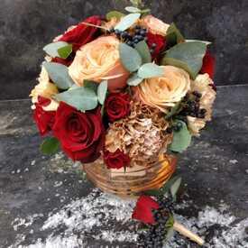 пионовидные розы невесты